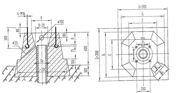 与深井泵安装尺寸图